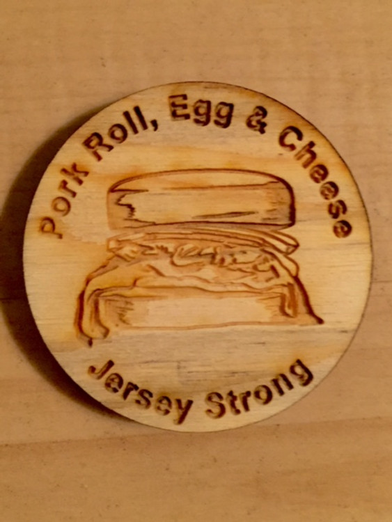 "Pork Roll Egg And Cheese 2"" Round Magnet"