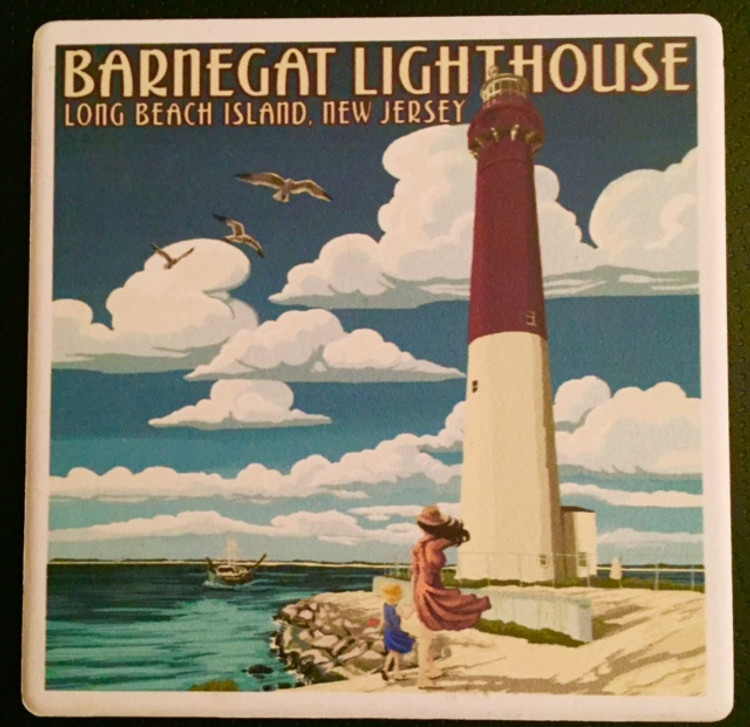 Barnegat Lighthouse Stone Coaster