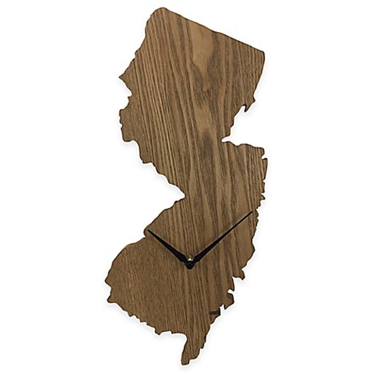 NJ Wood Wall Clock