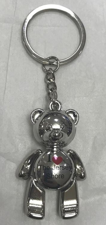 I Love The Jersey Shore Bear Key Ring