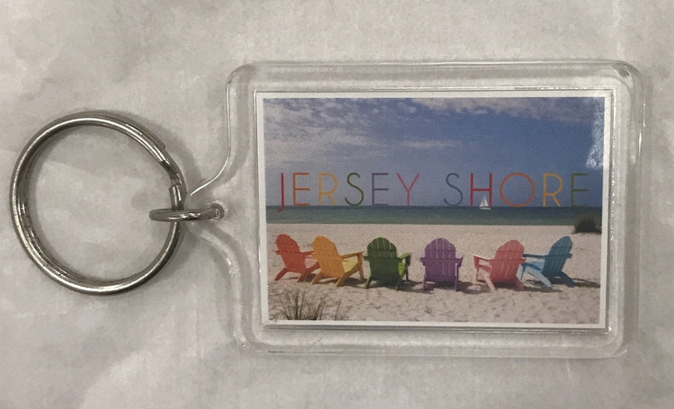 Jersey Shore Beach Chair Key Ring