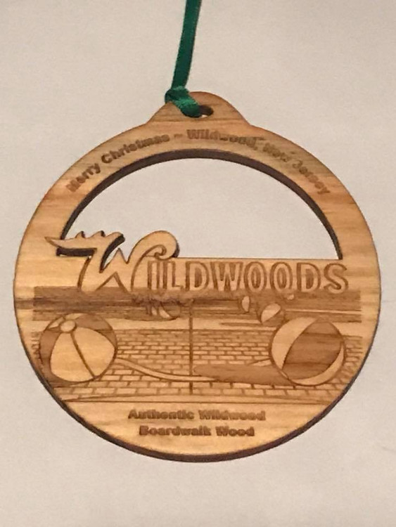 Authentic Wildwood Boardwalk Wood Ornament