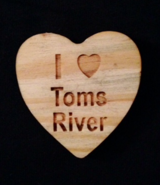 I Heart Toms River Heart Shaped Magnet