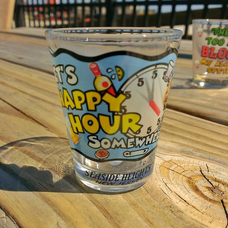 It's Happy Hour Shot Glass