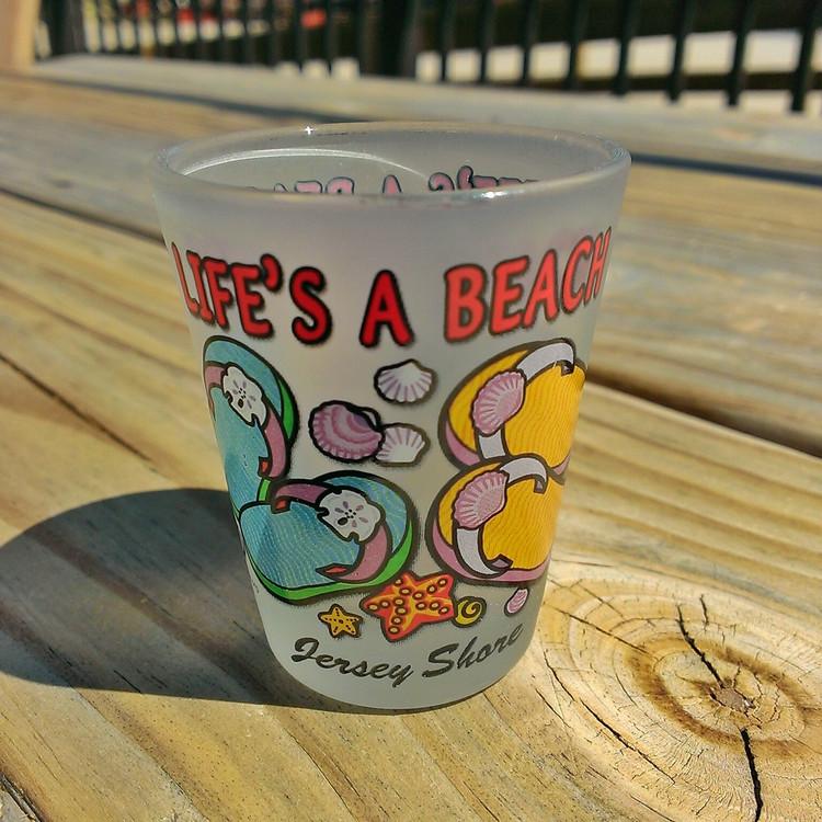 Life's A Beach Shot Glass