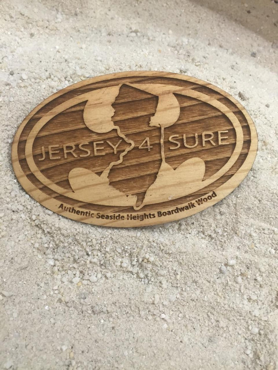 Jersey4Sure Batman Authentic Boardwalk Wood Magnet