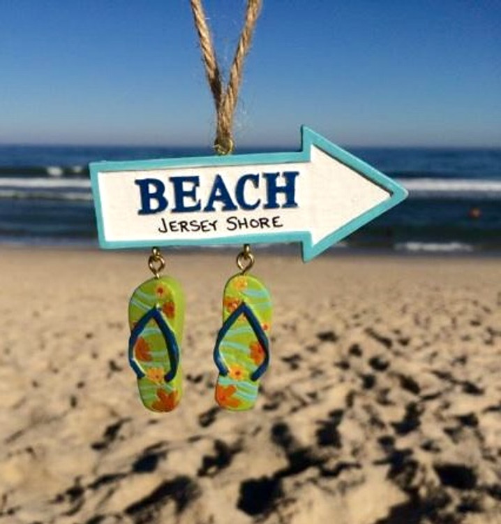 Beach Arrow Sandals Ornament