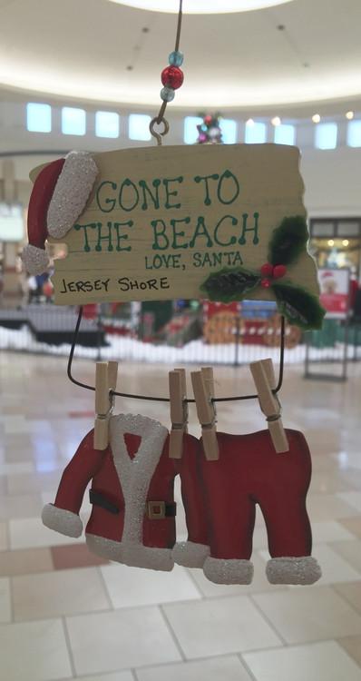 Gone To The Beach Santa Ornament