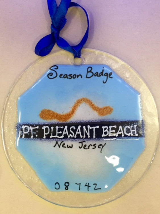 Point Pleasant Beach Badge Handmade Ornament/Sun Catcher