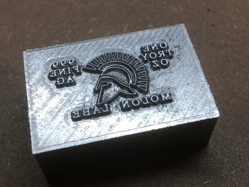 "(10x) 1 oz Hand Pour Silver Bar STACKERS MINT Series ""MOLON LABE"" 2017"