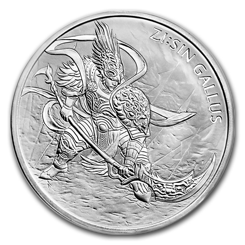 2017 South Korea 1 oz Silver ZI:SIN GALLUS BU Medal Twelve Guardians
