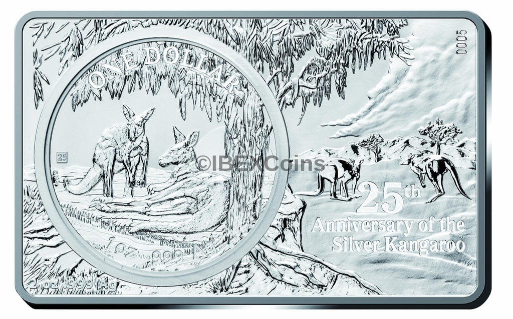 2018 3 oz 30th Anniversary AUSTRALIA KANGAROO Privy Silver Bar and Coin Set Box COA