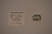 """(10x) 1 oz Hand Pour Silver Bar STACKERS MINT Series """"DONT TREAD ON ME"""" 2015"""