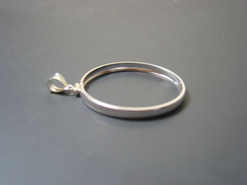 "Sterling Silver Coin Bezel, reeded edge, CIT ""Clover Leaf"", 2.7mm"