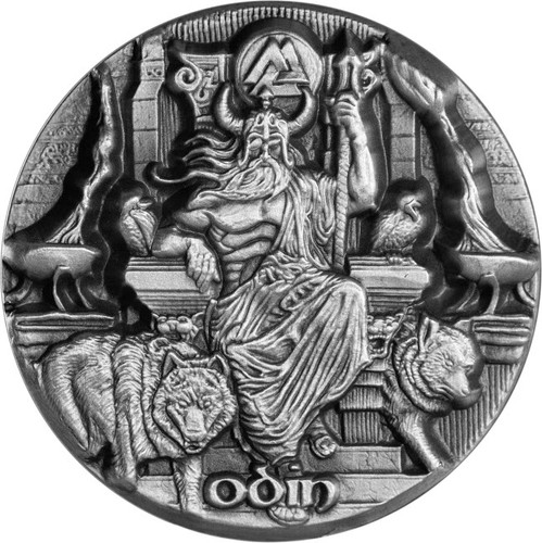 2016 LEGEND OF ASGARD - ODIN Ruler of the Aesir 3 oz Silver Coin Tokelau