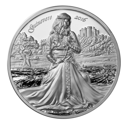 2016 LEGENDS OF CAMELOT - GUINEVERE 2 oz Silver Coin Cook Islands