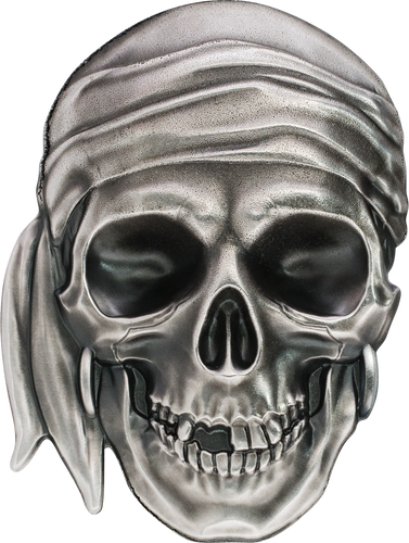 2017 PIRATE SKULL #1 .999 Silver 1 oz Coin Palau $5 COA and box