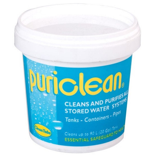 Puriclean - Cleans & Purifies Stored Water Systems Tanks Containers & Pipes