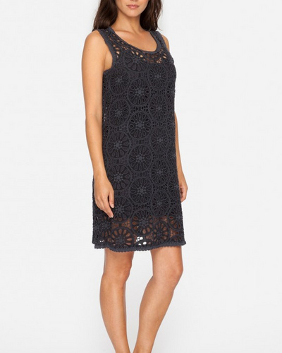 Johnny Was Collection Dial Eyelet Dress- Sanded Black