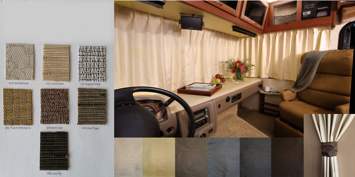 Custom RV And Camper Drapes And Blinds