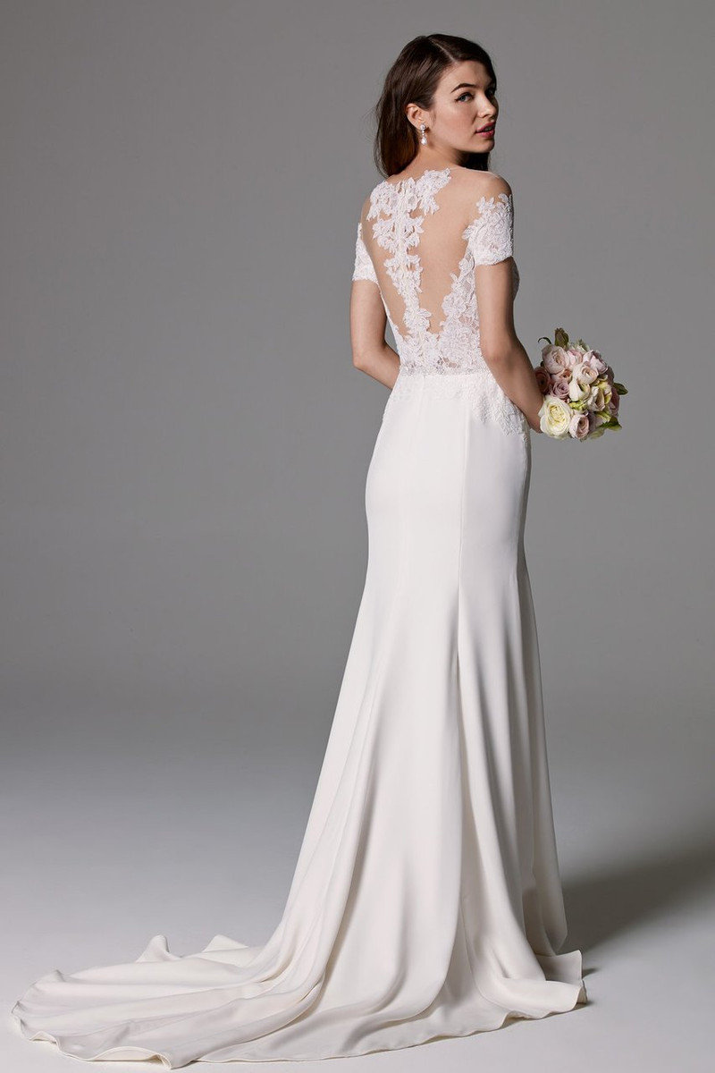 Watters wedding dress seaton unlined blush bridal for Wedding dresses by watters