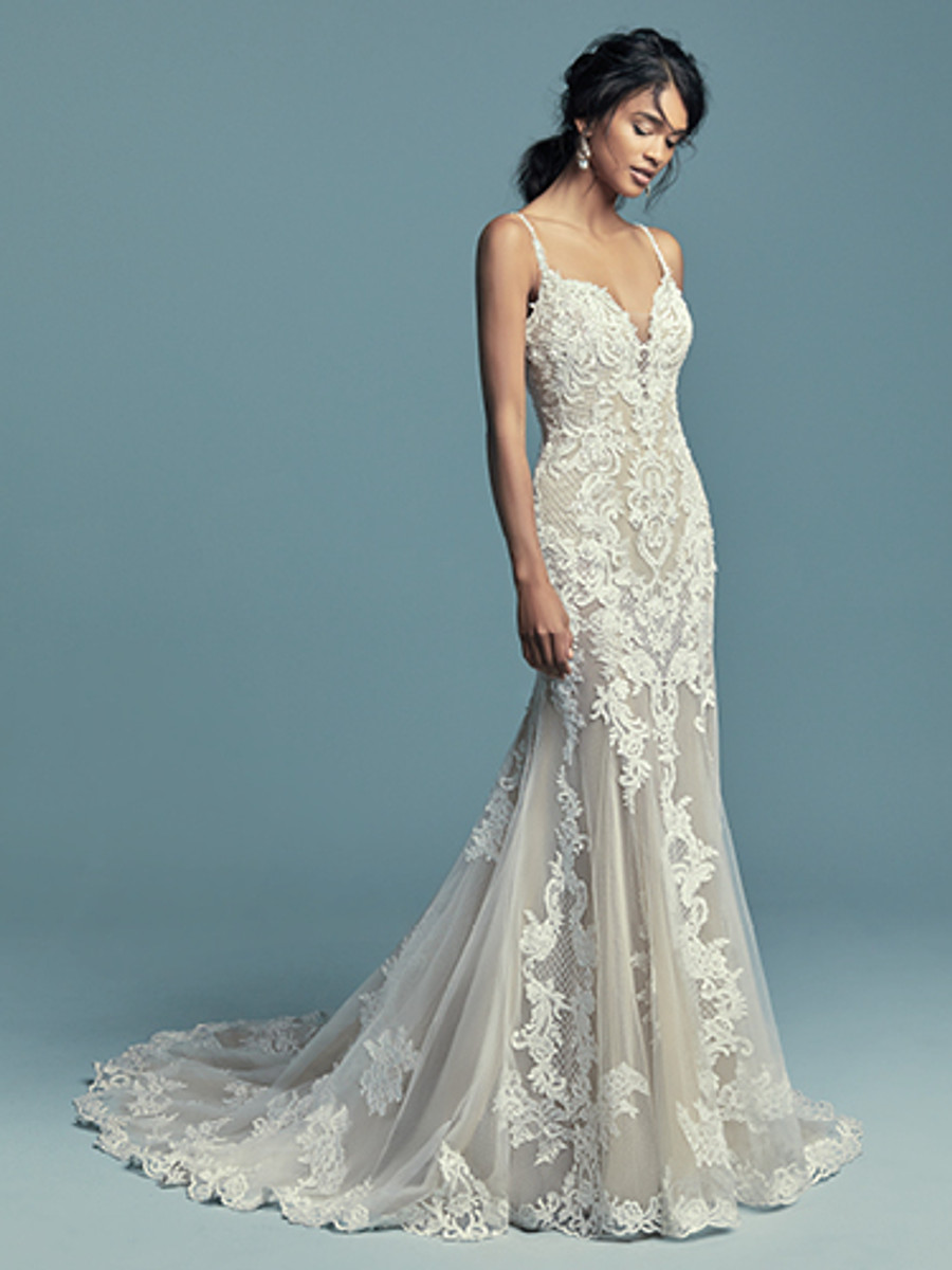 Nice Maggie Sottero Black And White Wedding Dress Image Collection ...