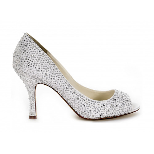 Discontinued - Celebrate Open Toe Crystal Bridal Shoes