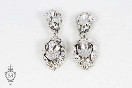 Justine M. Couture Silver Primrose Earrings