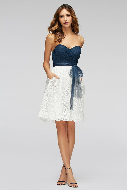 Watters Bridesmaids Dress Hibiscus Skirt