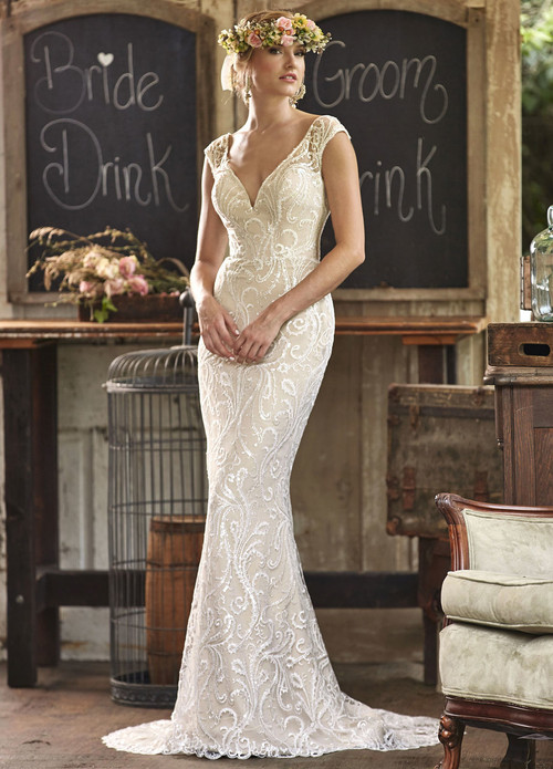 Ashley & Justin Wedding Dress 10478