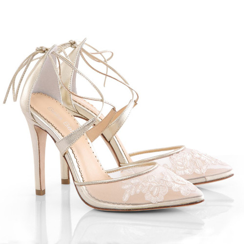 Bella Belle Anita Gold Wedding Shoes