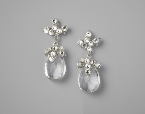 Dew Stud Crystal Earrings