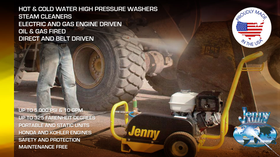 Steam Jenny, Proudly Made in the USA, High Pressure Washers and Steam Cleaners