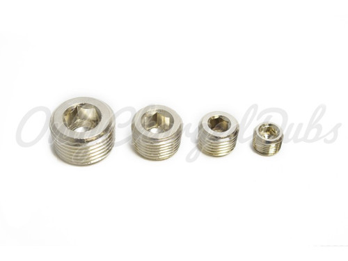 Nickel Full Metal - Allen Key Air Tank Plugs