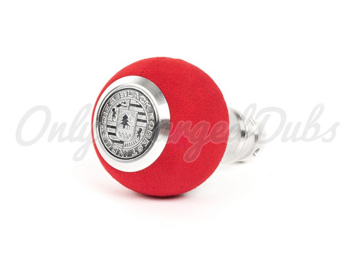 VW/Audi BFI Heavy Weight Shift Knob - Red Alcantara - Auto