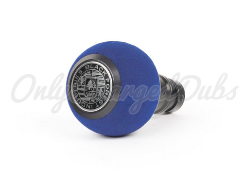VW/Audi BFI Heavy Weight Shift Knob - Black Anodized - Blue Alcantara - Auto