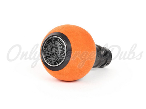 VW/Audi BFI Heavy Weight Shift Knob - Black Anodized - Orange Alcantara - Auto
