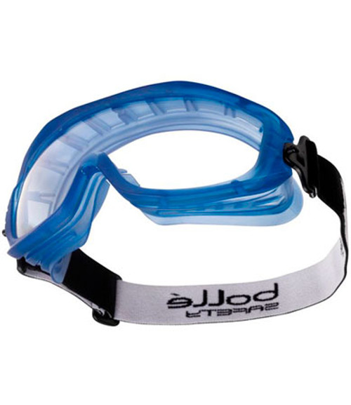 Safety Atom Goggles, Clear Polycarbonate Lens, Blue PVC