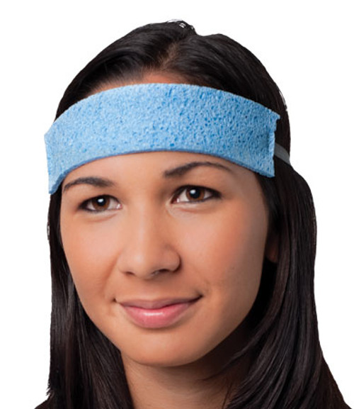 All Season Sponge Sweatband, Absorbent, Teal