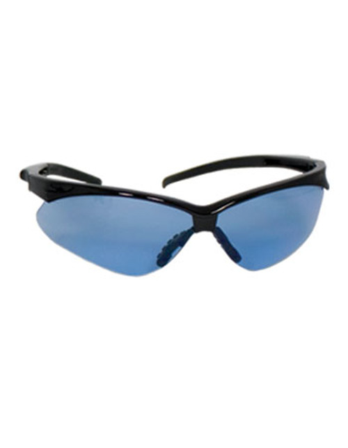 True Colors Light Blue Hard Coat Lens, Black Glossy Frame