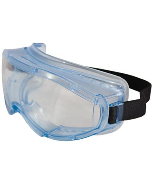 Tight Goggles, Clear Anti-fog lens, Non-latex Strap, Light Blue