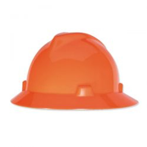 Orange MSA Protective Hat
