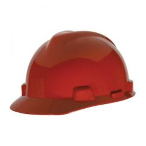 Red Half Brim  Protective Cap
