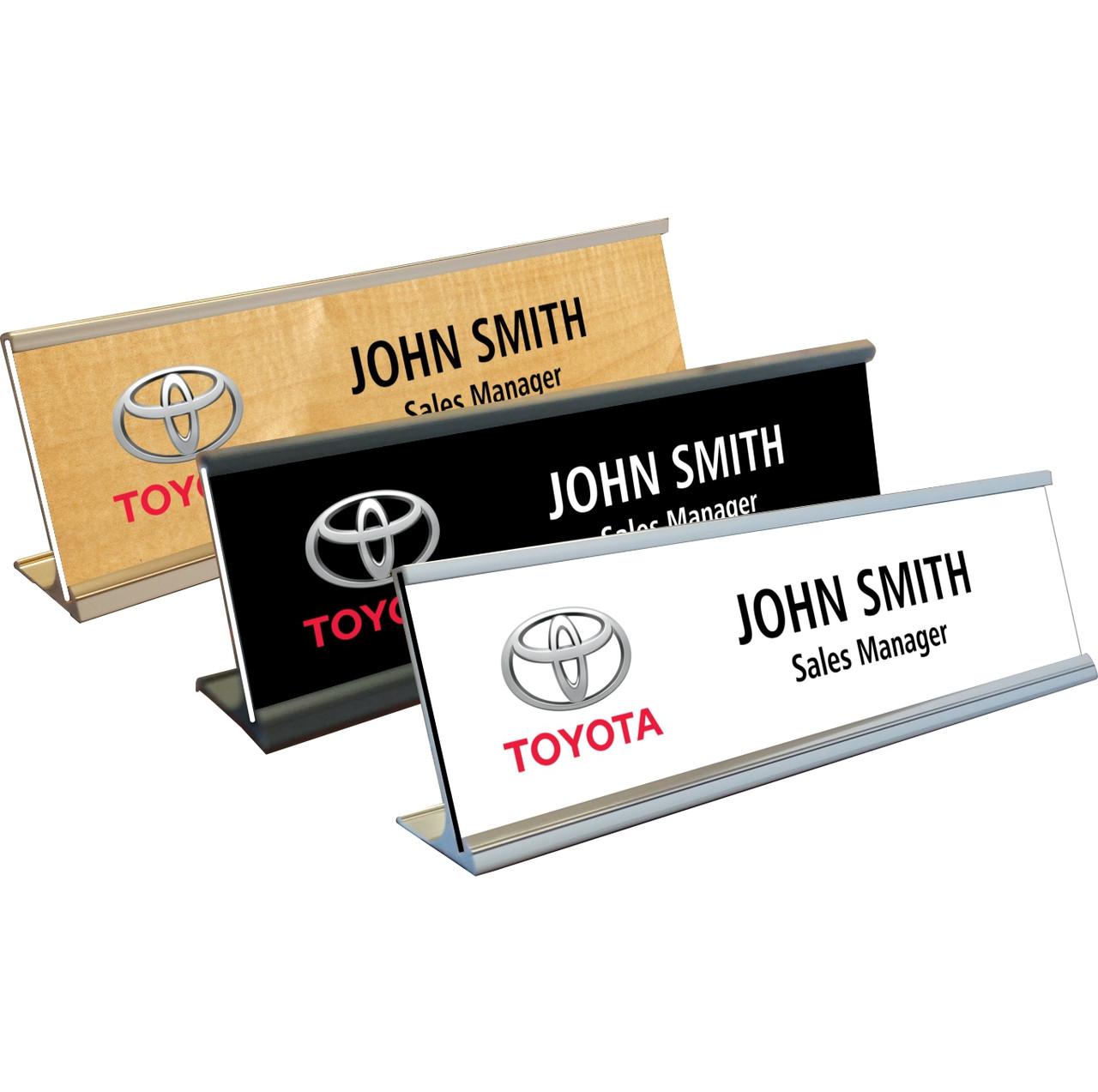 Toyota name plates with aluminum desk holder toyota name plates toyota name plates with aluminum desk holder colourmoves