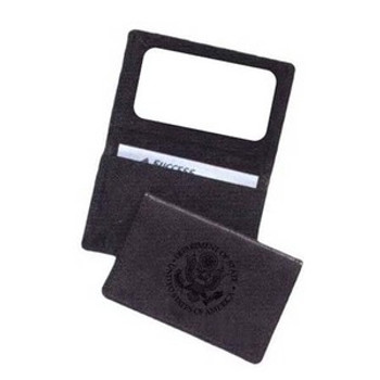 Genuine Leather Business Card Case - DOS Logo
