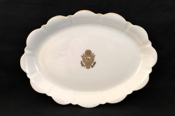 Pickard Gold Large Oval Mint Dish Great Seal
