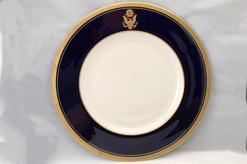 Cobalt Blue Rim Dinner Plate 10 5/8""