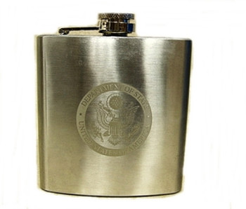 Flask 6 oz. DOS engraved