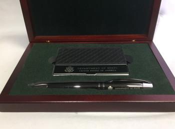Ball Point Gun Metal Pen w/ Case