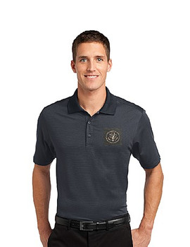 Fine Stripe Performance Polo Shirt/DOS Embroidered